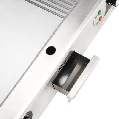 vidaXL Bakplaat elektrisch 4400 W 73x51x23 cm roestvrij staal