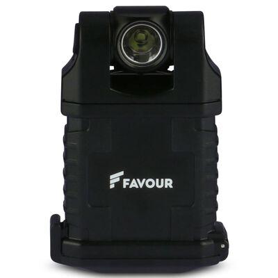 FAVOUR Werklamp EDCLIP zwart T0917