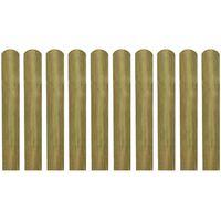 vidaXL 20 st Heklatten 60 cm geïmpregneerd hout