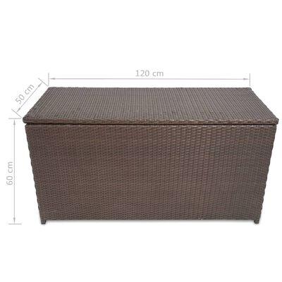 vidaXL Tuinbox 120x50x60 cm poly rattan bruin