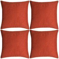 vidaXL Kussenhoezen 4 stuks linnen look terracotta 40x40 cm