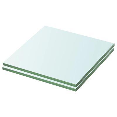 vidaXL Schappen 2 st 20x15 cm glas transparant