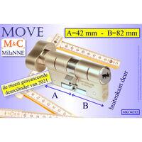 M&c Move Profielcilinder Met Knop Ovaal 42x82 Mm & Montageset & Kaars