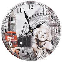 vidaXL Wandklok vintage stijl Marilyn Monroe 30 cm