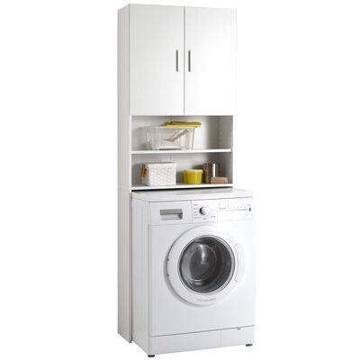 FMD Wasmachinekast met opbergruimte wit