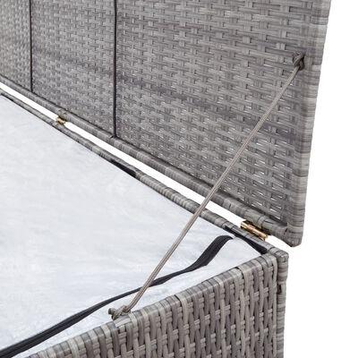 vidaXL Tuinbox 150x50x60 cm poly rattan grijs