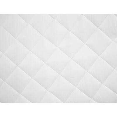 vidaXL Matrasbeschermer gestikt licht 180x200 cm wit,