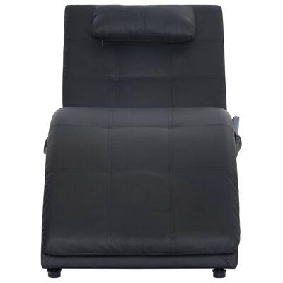 vidaXL Massage chaise longue met kussen kunstleer bruin