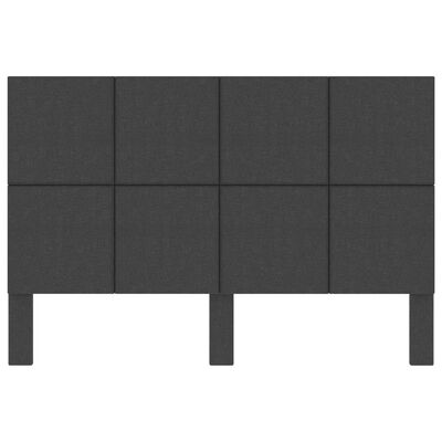 vidaXL Hoofdbord 180x200 stof donkergrijs