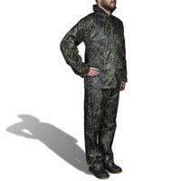Regenpak 2-delig met capuchon (heren / camouflage / maat M)