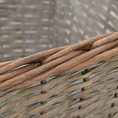 vidaXL Plantenbakken verhoogd 3 st wicker met PE-voering
