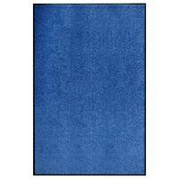 vidaXL Deurmat wasbaar 120x180 cm blauw