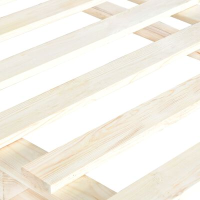 vidaXL Bedframe pallet massief grenenhout 90x200 cm