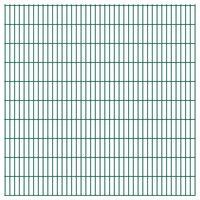 vidaXL Dubbelstaafmatten 2,008x2,03 m 14 m (totale lengte) groen