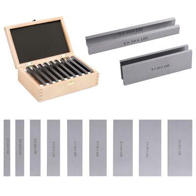 vidaXL Parallelplaatjes 18 st 100 mm 10-42 mm
