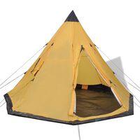 vidaXL Tent 4-persoons geel