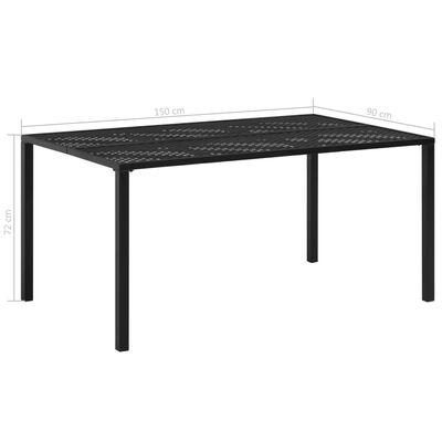 vidaXL Tuintafel 150x90x72 cm staal zwart