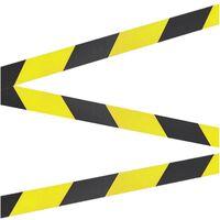 1x Taperollen geel/zwart - 66 meter - 50 mm - Markeerlinten op rol