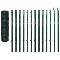 vidaXL Euro hek 25x1,7 m staal groen