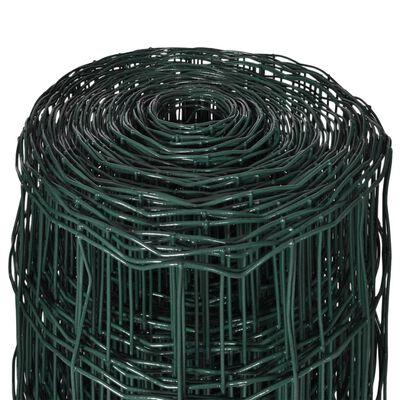 vidaXL Euro hek 25x1,2 m staal groen