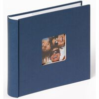 Walther Design Fotoalbum Fun Memo 200 foto's 10x15 cm blauw