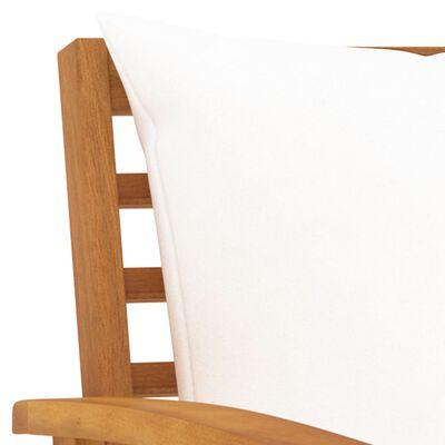 vidaXL 3-delige Loungeset met kussens massief acaciahout