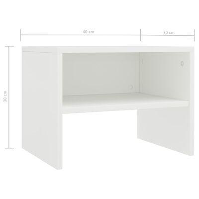vidaXL Nachtkastjes 2 st 40x30x30 cm spaanplaat wit