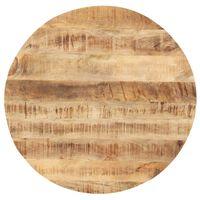 vidaXL Tafelblad rond 25-27 mm 60 cm massief mangohout