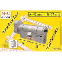 M&c Condor Cilinder Knop Ovaal Push 42x57 Mm & Montageset & Slotkaars