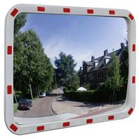 vidaXL Verkeersspiegel rechthoekig met reflectors 60x80 cm