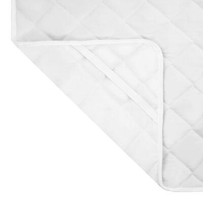 vidaXL Matrasbeschermer gestikt zwaar 90x200 cm wit
