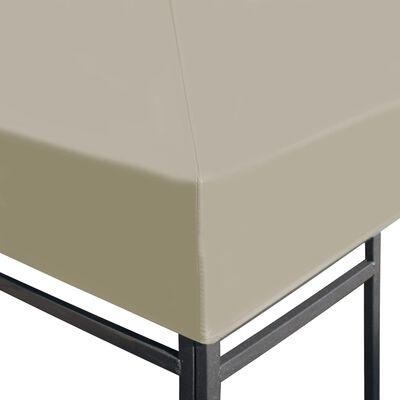 vidaXL Prieeldak 310 g/m² 4x3 m beige
