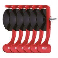 AutoStyle montageklemmen voor sideskirts rood/zwart 6 stuks