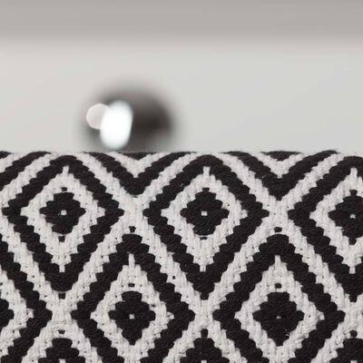 Sealskin Badmat Trellis 60x90 cm katoen zwart en wit