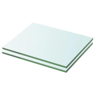 vidaXL Schappen 2 st 20x20 cm glas transparant
