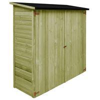 vidaXL Tuinschuur 182x76x175 cm geïmpregneerd grenenhout