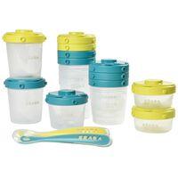 Beaba Voedselcontainerset 1st Meal Set groen en blauw