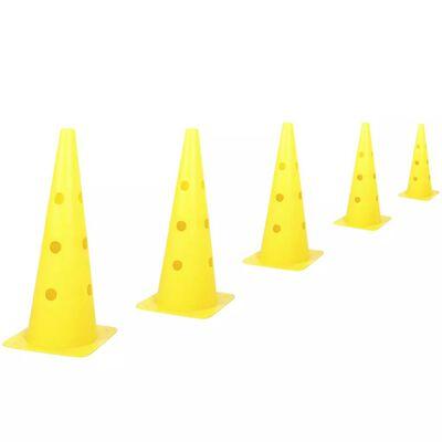 Kerbl 2-in-1 Behendigheidsset met kegels en hordes geel 81994