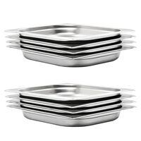 vidaXL Gastronormbakken 8 st GN 1/2 40 mm roestvrij staal