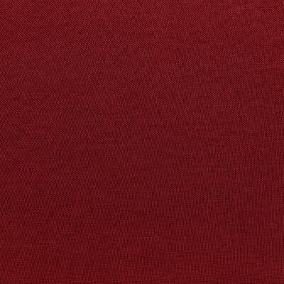 vidaXL Hoekbank sectioneel met kussen stof wijnrood