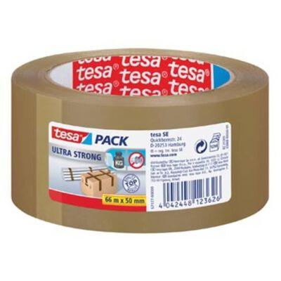 Tesapack Ultra Strong, ft 50 mm x 66 m, PVC, bruin