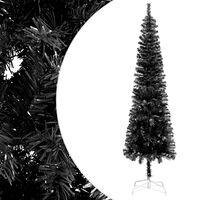 vidaXL Kerstboom smal 210 cm zwart