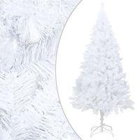 vidaXL Kunstkerstboom met dikke takken 240 cm PVC wit