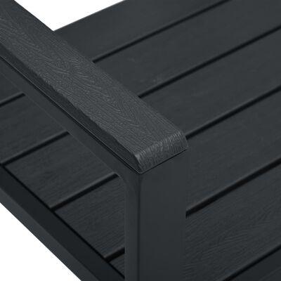 vidaXL Tuinbank hout-look 120 cm HDPE zwart