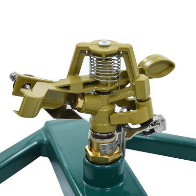 vidaXL Sproeier roterend 21x22x13 cm metaal groen