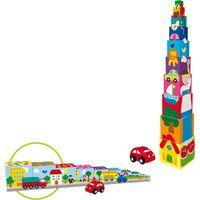 Goula stapelblokken Pile-up Cubes Car 10-delig