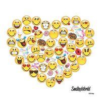 20x Smileys hart servetten 33 x 33 cm - Emoticon servet