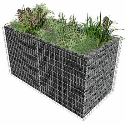 vidaXL Gabion plantenbak verhoogd 180x90x100 cm staal zilverkleurig