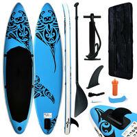 vidaXL Stand Up Paddleboardset opblaasbaar 305x76x15 cm blauw