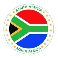 75x Bierviltjes Zuid-Afrika thema print - Onderzetters Zuid-